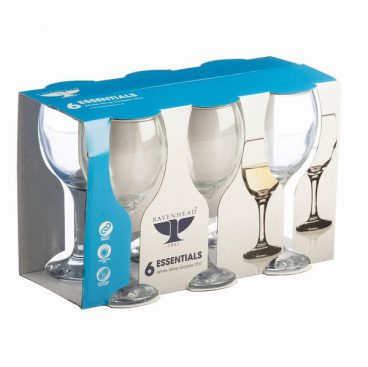 RAVENHEAD ESSENTIAL WHITE WINE GLASSES PK6