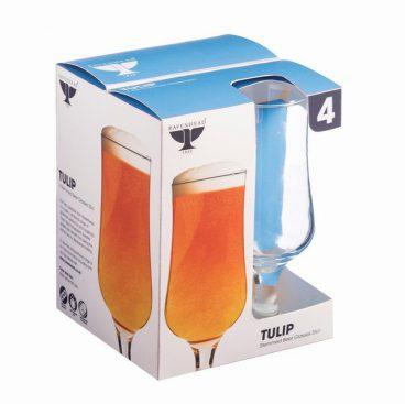 RAVENHEAD TULIP STEMMED BEER GLASS PK4