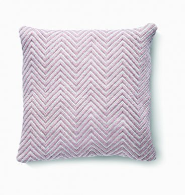 Herringbone Cushion – Rose