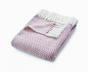 Herringbone Throw – Rose
