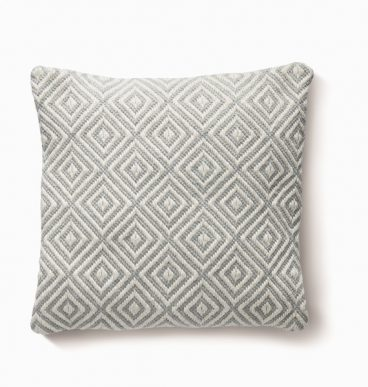 Diamond Cushion – Sky Grey