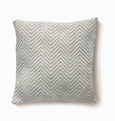 Herringbone Cushion – Sky Grey
