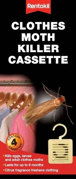 Rentokil Clothes Moth Killer Cassette Twin Pack
