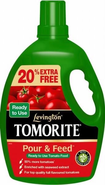 Levington Tomorite Pour & Feed 2.5L Plus 20% Free