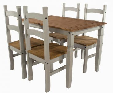 Corona Grey 4 Chair Dining Set
