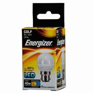 BULB LED GOLF 5.9W (40W) BC WARM ENERGIZER