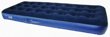 AIRBED SINGLE DELUXE FLOCK