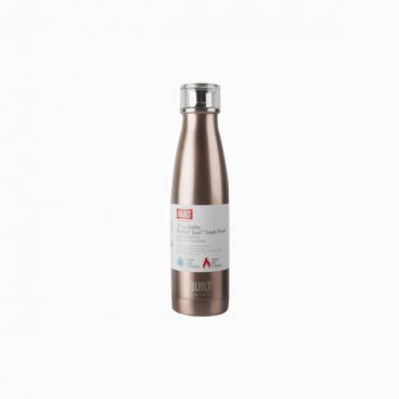 Built 500ml Double Walled Stainless Steel Water Bottle Rose Gold