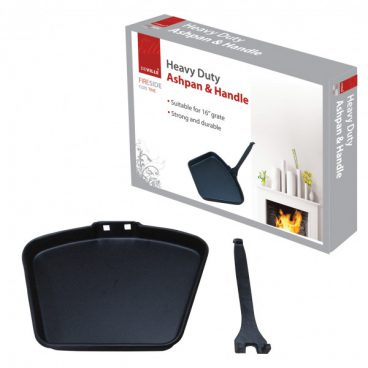 ASH PAN & HANDLE SET BLACK 16IN