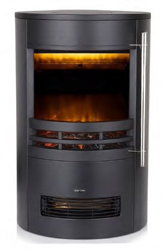 1800w Log Effect Stove Fire Curved