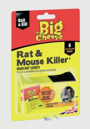 Big Cheese Rat & Mouse Killer Grain 6x25g
