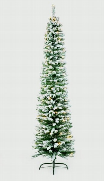 XMAS20 TREE PENCIL IMPERIAL PINE SNOW PRELIT 2M (T22)