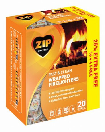 mica01/21 FIRELIGHTERS ZIP WRAPPED PK16