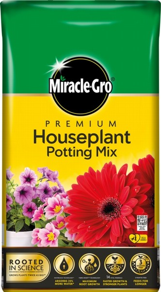 COMPOST HOUSEPLANT POTTING MIX 10L MIRACLE-GRO