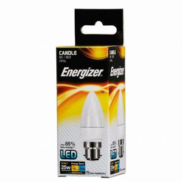BULB LED CANDLE 3.4W (25W) BC OPAL WARM ENERGIZER