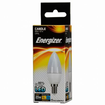 BULB LED CANDLE 3.4W (25W) SES WARM ENERGIZER