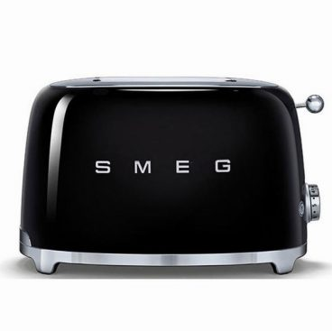 SMEG RETRO BLACK TOASTER 2 SLICE