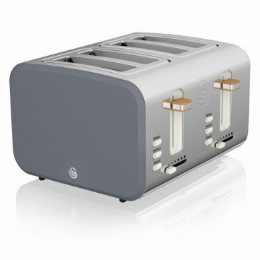 Swan Nordic – 4 Slice Toaster – Grey