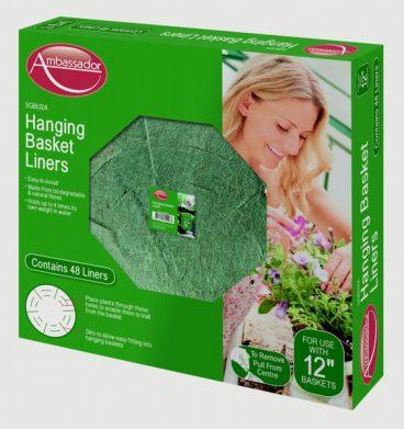 HANGING BASKET LINER GREEN FIBRE 14IN