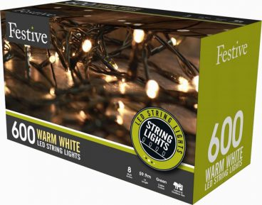 Chaser Christmas Lights – 600 LED – Warm White