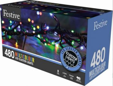 Cluster Christmas Lights – 480 LED – Multicoloured
