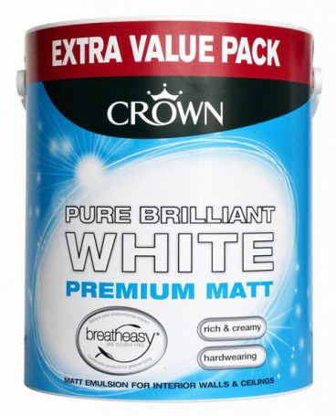 Crown – Matt Emulsion – Pure Brilliant White – 3L