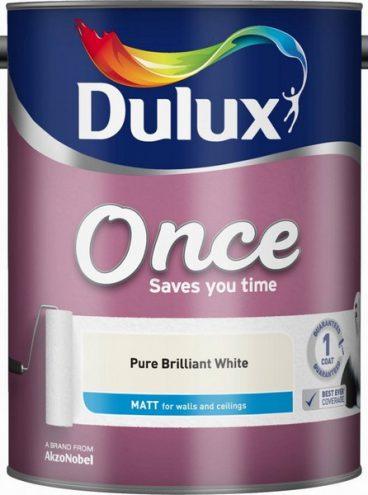 Dulux – Once Matt Emulsion – Pure Brilliant White – 5L