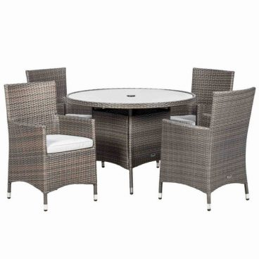 Marlow Dining Set 4 Chairs 1 Table