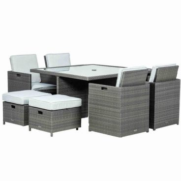 Deluxe Cube Set 8 Seats 1 Table