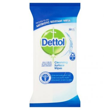 Dettol – Antibacterial Cleaning Wipes – Pack 30