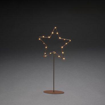 Konstsmide – Copper Standing Heart LED
