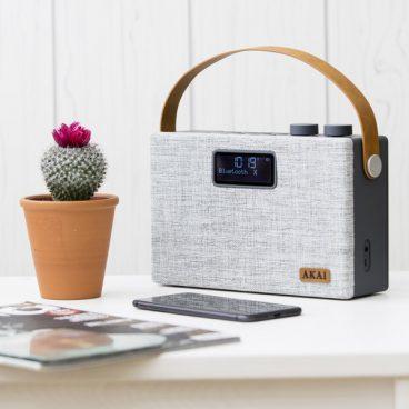 AKAI DAB+ BLUETOOTH RADIO GREY