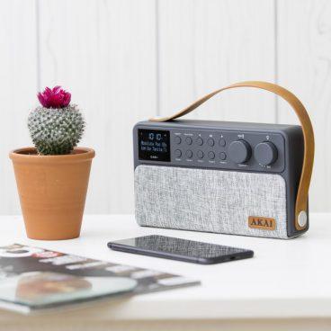AKAI DAB+ RECHARGEABLE RADIO GREY