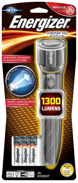 TORCH/POCKET ENERGIZER HD VISION METAL 1300 LUMEN