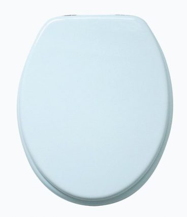 TOILET SEAT WHITE STAINLESS STEEL HINGES