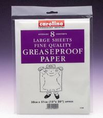GREASEPROOF PAPER 15X20IN PK8