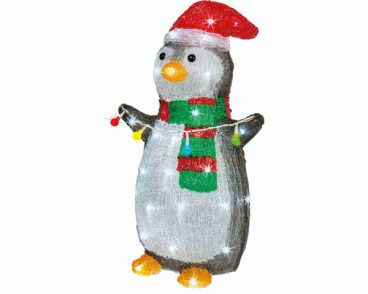 ACRYLIC PENGUIN WITH LIGHTS