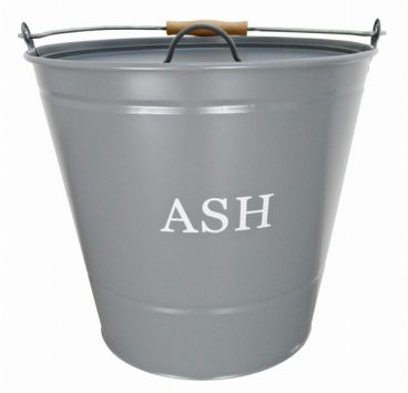 ASH BUCKET & LID GREY