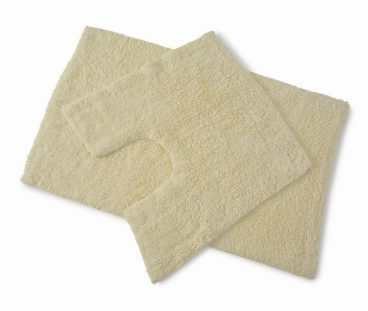 BATH MAT SET PREMIER CREAM 50X80CM/50X50CM