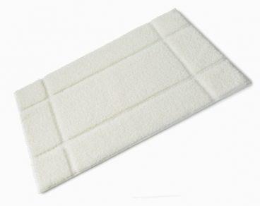 BATH MAT FIBRE WHITE 50X80CM
