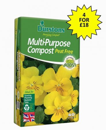 COMPOST M/P PEAT FREE 40L DURSTONS (4 FOR £18)