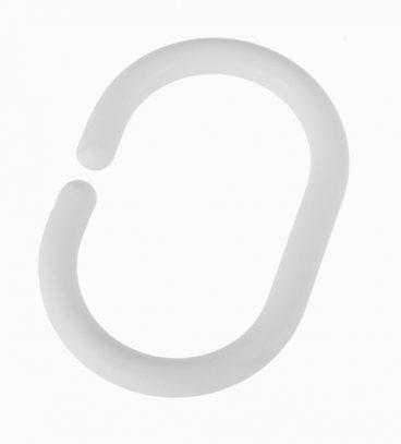 SHOWER CURTAIN RINGS WHITE PK12