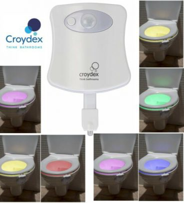 CROYDEX COLOUR CHANGING TOILET PAN NIGHT LIGHT