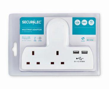 ADAPTOR SOCKET 2 WAY 2 USB