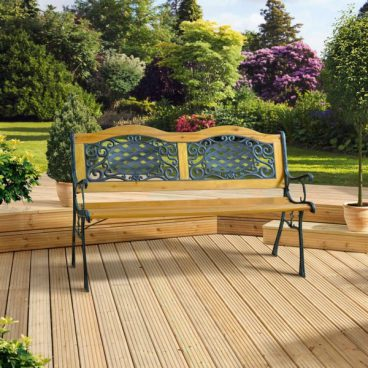 CAST IRON WOODEN BENCH 2 SEATER (2022)