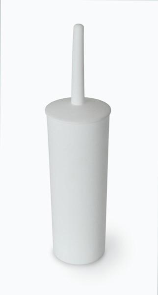 TOILET BRUSH SET PLASTIC WHITE