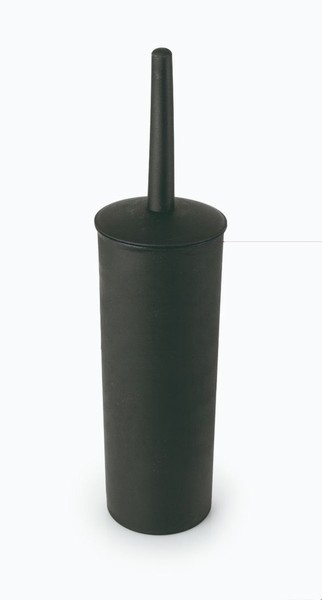 TOILET BRUSH SET PLASTIC BLACK