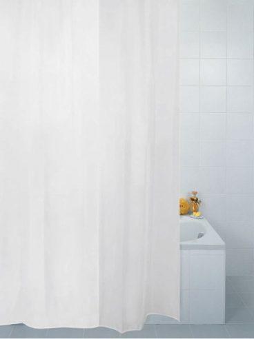 SHOWER CURTAIN ANTI-BAC WHITE