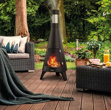 TOWER FIRE PIT CHIMNEY APOLLO BURNER