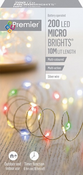 BATTERY MICROBRIGHTS MULTI 200 LED 10M